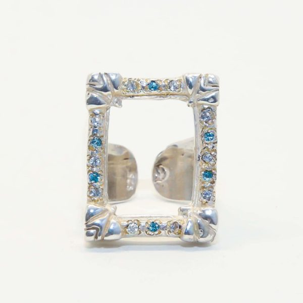 Tattoo Frame Square with Stones