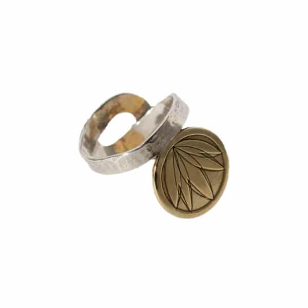 "the Lotus ring Stering silver, partly goldplated with 24K Your spiritual piece and harmony[icon name=""pagelines"" class="""" unprefixed_class=""""]"